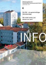 FGZ-Info 4/2013 - Familienheim-Genossenschaft Zürich