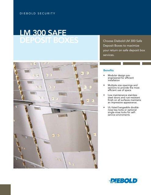 LM 300 Safe Deposit Boxes - Diebold