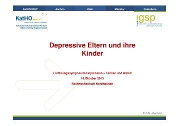 Depressive Eltern und ihre Kinder - Fachhochschule Nordhausen