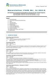 Newsletter FHN Nr - Fachhochschule Nordhausen