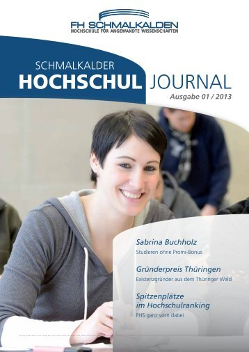 Hochschuljournal 1/2013 - Fachhochschule Schmalkalden