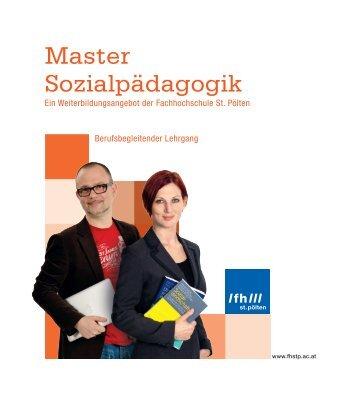 Master Sozialpädagogik - Fachhochschule St. Pölten