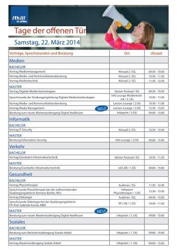 Programm Tag 2 - Fachhochschule St. Pölten
