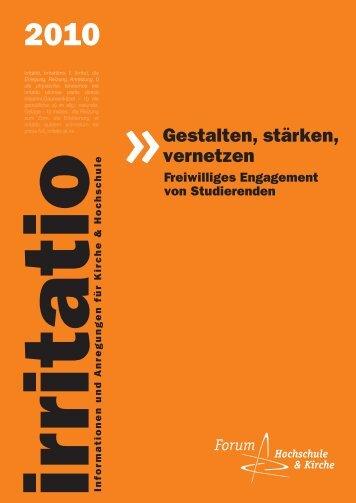 irritatio 2010 - Forum Hochschule und Kirche