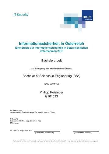 Informationssicherheit in Österreich - Fachhochschule St. Pölten