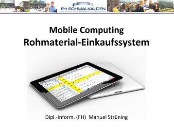 Mobile Computing für ein Rohmaterial-Einkaufssystem