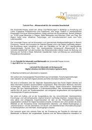 Lehrstuhl für Informatik mit Schwerpunkt Digital Libraries and Web ...