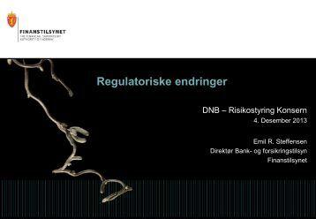 Foredrag: Regulatoriske endringer - Finanstilsynet