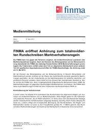 D Medienmitteilung - Finma