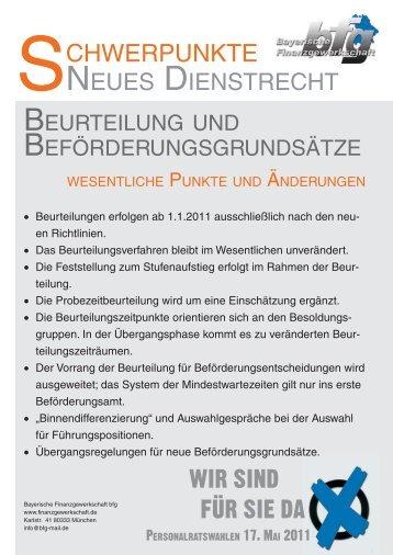 Beurteilungs - Bayerische Finanzgewerkschaft