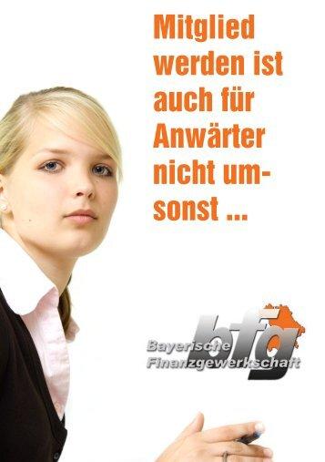 Mitglied werden für Anwärter - Bayerische Finanzgewerkschaft