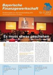 Tagungszeitung 19.11.2013 - Bayerische Finanzgewerkschaft