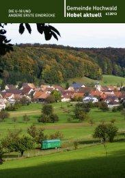 Gemeinde Hochwald Hobel aktuell 4 | 2013 - firma-web.ch