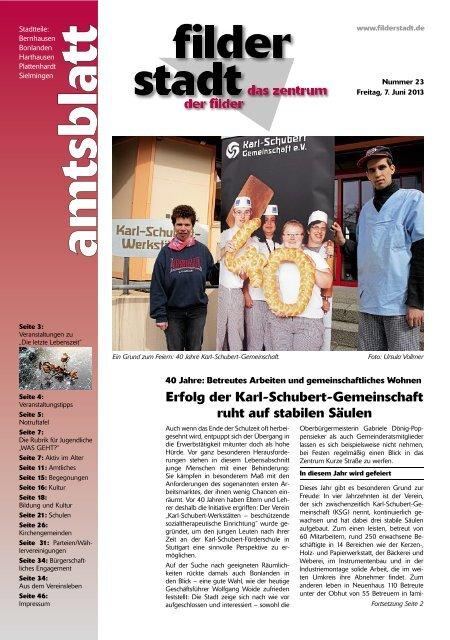 Amtsblatt KW 23.pdf - Stadt Filderstadt