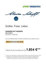 TUI Mein Schiff 3 Silvesterreise 2014/2015 - First Reisebüro