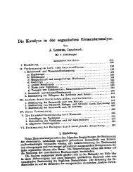 Die' Katalyse in der organischen Elementaranalyse. - Fischer ...
