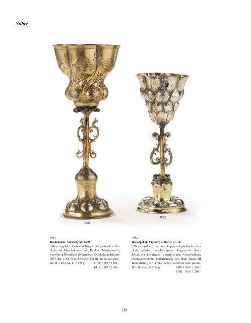Silber & Versilbertes, Porzellan & Fayence, Kat. - Galerie Fischer ...