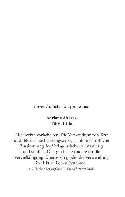Leseprobe - S. Fischer Verlage