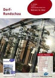 Dorf-Rundschau August - Oktober 2013 - Theodor Fliedner Stiftung