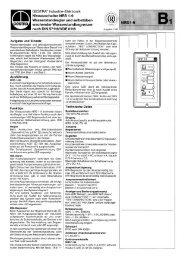 Niveauschalter NRS 1-9 Wasserstandregler und selbstüber- '