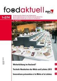 Technik-Neuheiten der Mefa und Lefatec 2013 ... - Foodaktuell.ch