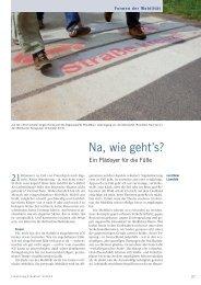 Na, wie geht's? - Forschung Frankfurt - Goethe-Universität