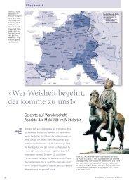 Gelehrte auf Wanderschaft - Aspekte der Mobilität im Mittelalter