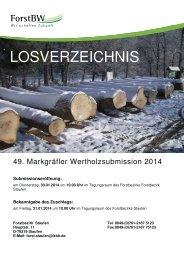 Losverzeichnis MGL Submission 2014 - ForstBW