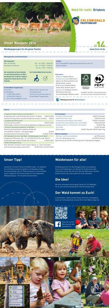 Faltblatt - Schleswig-Holsteinische Landesforsten