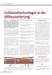 Schlüsseltechnologie in der Altbausanierung