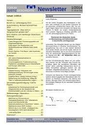 Forum Justizgeschichte Newsletter x/201x - Forum Justizgeschichte eV