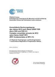 Detaillierte Jahresrechnung 2012 - Fragile Suisse