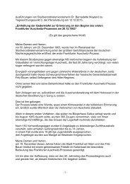 Ausführungen von Stadtverordnetenvorsteherin ... - Frankfurt am Main