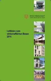 Leitlinien zum wirtschaftlichen Bauen 2014 - Frankfurt am Main