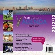 Frankfurter Agenda Stadtplan 2012/2013 - Frankfurt am Main