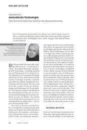 Amoralische Technologie - Neue Gesellschaft Frankfurter Hefte