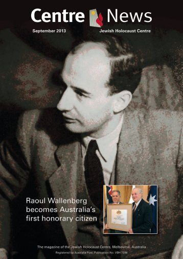 Raoul Wallenberg becomes Australia's first honorary citizen