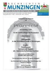 Pfarrfest - Stadt Freiburg im Breisgau