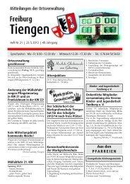 Mitteilungsblatt Heft 21 vom 23.05.2013 - Stadt Freiburg im Breisgau