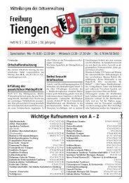 Mitteilungsblatt Tiengen KW 05 - Stadt Freiburg im Breisgau