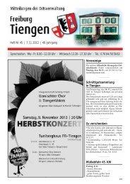 Mitteilungsblatt Heft 45 vom 07.11.2013 - Stadt Freiburg im Breisgau
