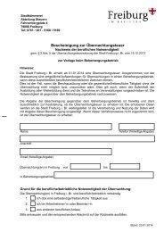 Bescheinigung zur Übernachtungsteuer - Stadt Freiburg im Breisgau
