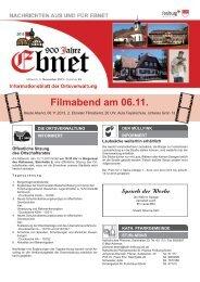 Filmabend am 06.11. - Stadt Freiburg im Breisgau