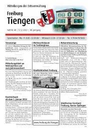 Mitteilungsblatt Heft 49 vom 05.12.2013 - Stadt Freiburg im Breisgau