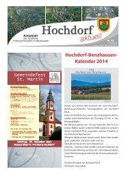 Hochdorf-Benzhausen- Kalender 2014 - Stadt Freiburg im Breisgau