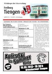 Mitteilungsblatt Heft 31 vom 01.08.2013 - Stadt Freiburg im Breisgau