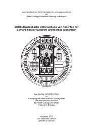 Molekulargenetische Untersuchung von Patienten mit ... - FreiDok