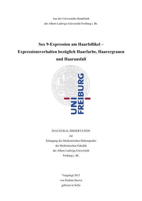 Sox 9-Expression am Haarfollikel - FreiDok - Albert-Ludwigs ...