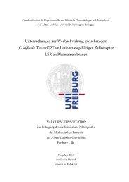 Untersuchungen zur Wechselwirkung zwischen dem C ... - FreiDok