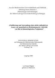 """""""Etablierung und Anwendung eines nicht-radioaktiven ... - FreiDok"""